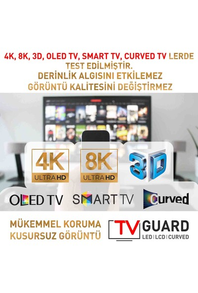 "TV Guard Samsung Qe65Q7Fn 65"" 3 mm Tv Ekran Koruyucu"