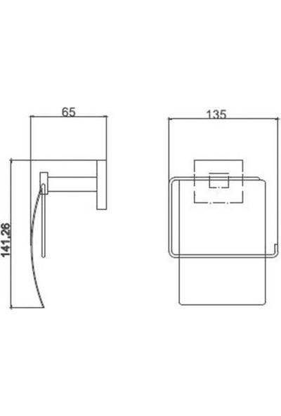 Dekor Elegancia Tuvalet - Wc Kapaklı Kağıtlık