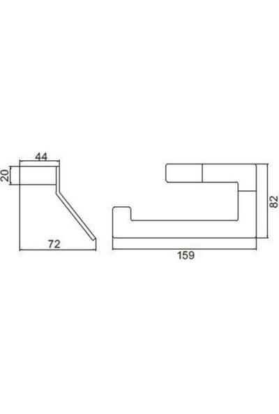 Dekor Siyah Tuvalet - Wc Kağıtlık Ss 304 Black Seri