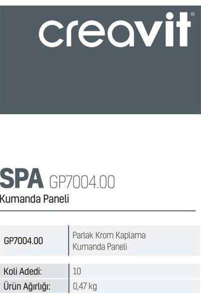 Creavit GP7004.00 Parlak Krom Kaplama Kumanda Paneli