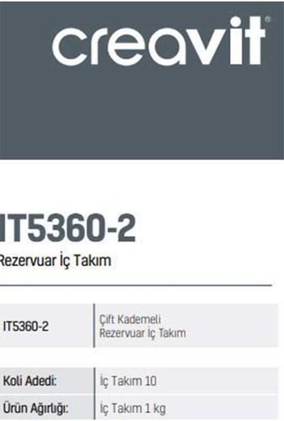 Creavit IT5360-2 Çift Kademeli Klozet Iç Takım
