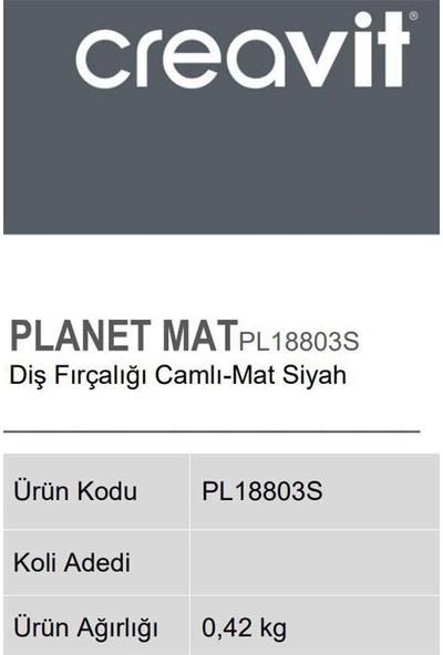 Creavit PL18803S Diş Fırçalığı - Mat Siyah