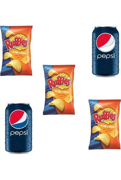 Pepsico Ruffles Peynir ve Soğan Çeşnili 103 gr 3'lü Pepsi 330 ml Kutu Kola 2'li