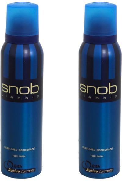 Snob For Men Classic Deodorant 150 ml x 2 Adet