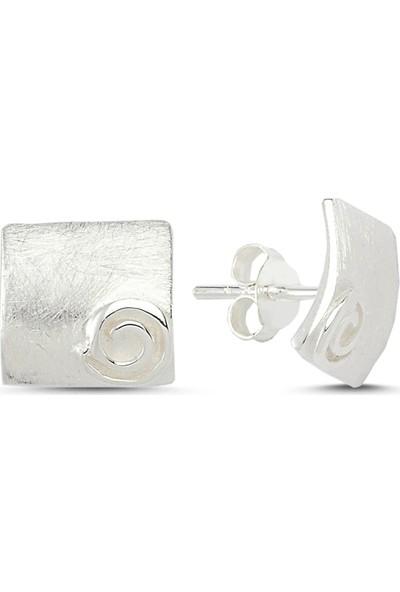 Zuk Collection Gümüş Taşsız Küpe