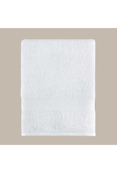 Arya Home Miranda Soft Düz Banyo Havlusu Beyaz