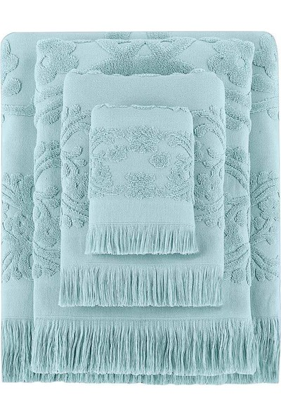 Arya Home Isabel Soft Saçaklı Yüz Havlusu Mint