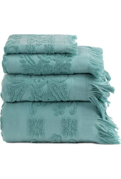 Arya Home Isabel Soft Saçaklı Banyo Havlusu Aqua