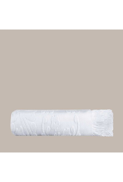 Arya Home Isabel Soft Saçaklı Banyo Havlusu Beyaz