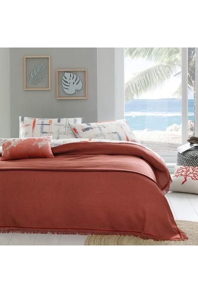 Yataş Bedding Fıdel Püsküllü Yatak Örtüsü (Tek Kişilik) - Mercan