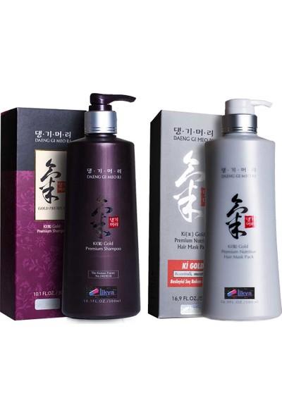 Ki Gold Premium Şampuan 300 ml ve Ki Gold Saç Maskesi 500 ml