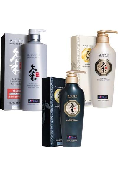 Ki Gold Ginseng Şampuan Saç Bakım Seti