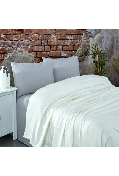 Komfort Home Çift Kişilik Ranforce %100 Pamuk Pike / Krem
