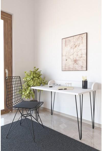 Wood House Athena Çalışma Masası Takımı - Beyaz