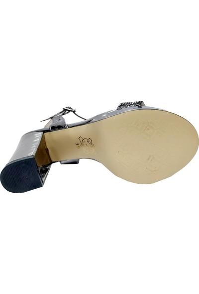 Erbay 150 Rugan Platform Topuklu Abiye Kadın Sandalet