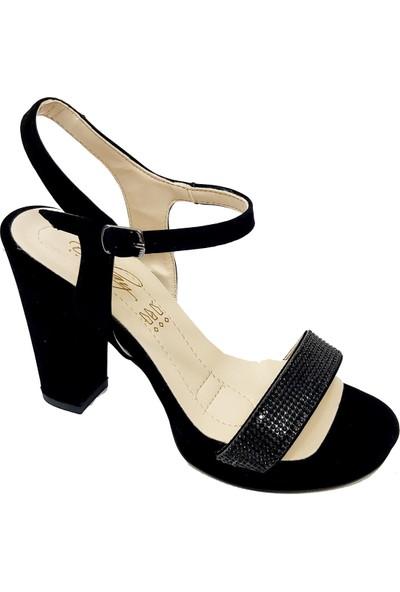Erbay 150 Süet Platform Topuklu Abiye Kadın Sandalet