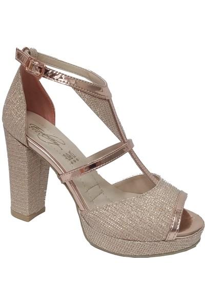 Erbay 203 Platform Topuklu Abiye Kadın Sandalet