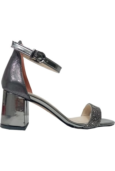 Erbay 22 Taşlı Abiye Kalın Topuklu Kadın Sandalet