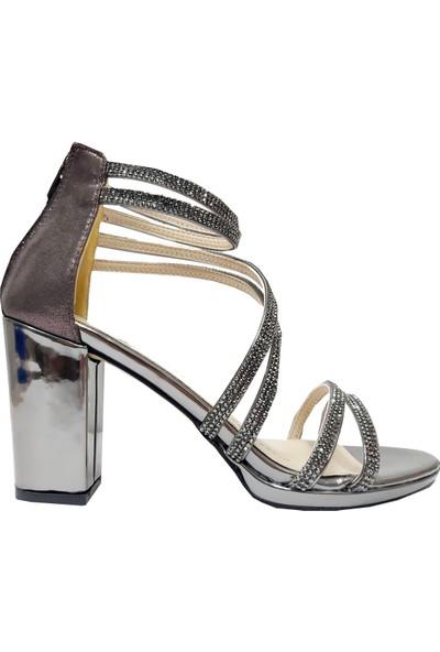 Erbay 56 Taşlı Abiye Kadın Sandalet