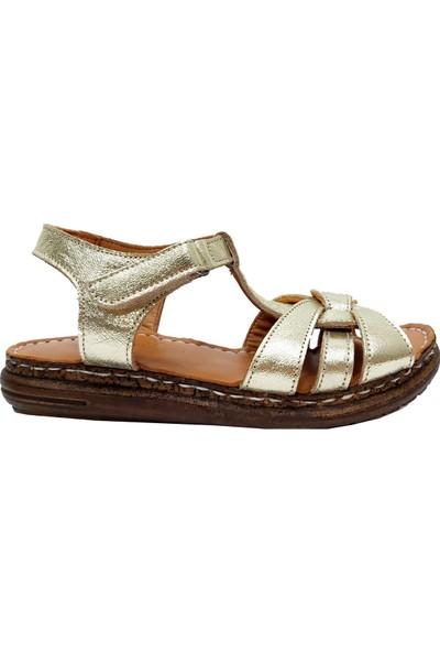 Piarmoni 2179 Deri Filet Çocuk Sandalet