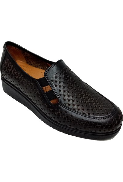 Scavia 121-20 Deri Delikli Kadın Ayakkabı