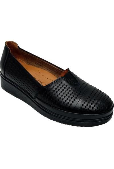 Scavia 301-20 Deri Delikli Kadın Ayakkabı