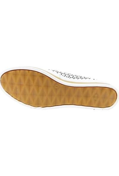 Scavia 335-20 Deri Delikli Kadın Ayakkabı