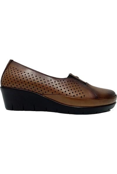 Scavia 365-20 Deri Delikli Kadın Ayakkabı