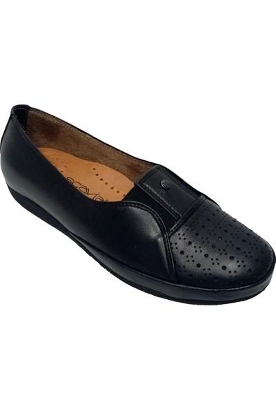 Scavia 866-20 Deri Delikli Kadın Ayakkabı