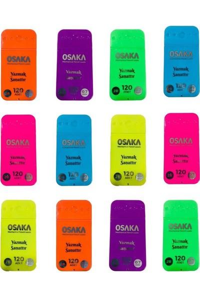 Osaka 2B Versatil Kalem Ucu Neon Kutu 120 Ad. 07 mm 12'li