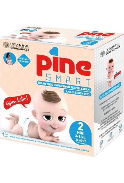 Pine Smart Akıllı Bebek Bezi 2 No Mini 3-6 kg 24'lü