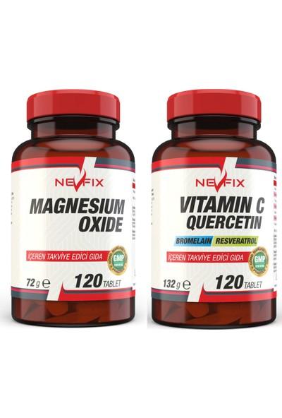 Nevfix Vitamin C 120 Tablet & Magnesium 250 mg 120 Tablet