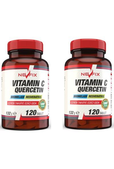 Nevfix Vitamin C 120 Tablet Bromelian Quercetin 2 Kutu