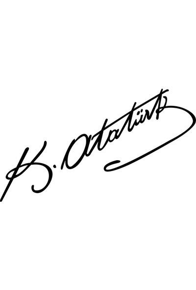 Quart Kemal Atatürk İmza Oto Sticker