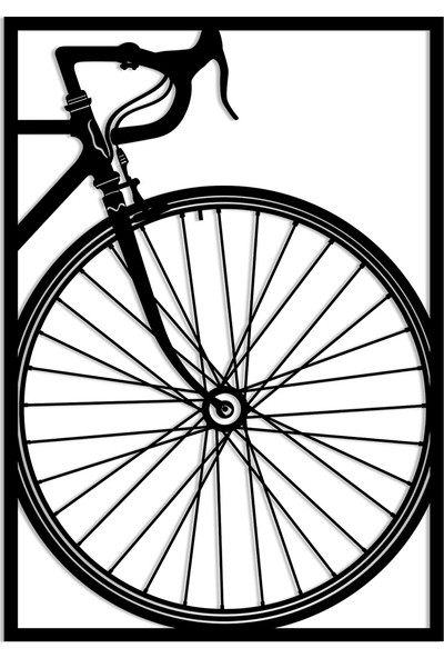 Karaen Yarış Bisikleti Dekoratif Metal Tablosu