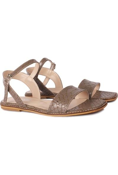 Loggalin 111602 366 Kadın Vizon Kroko Sandalet
