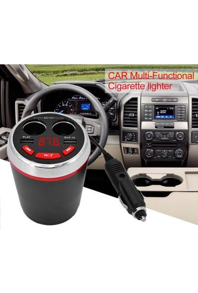 SGE Bluetooth Fm Transmitter Araç Çakmaklık Çoğaltıcı USB Araç Şarj Şarz Cihazı