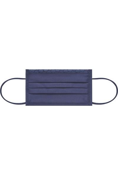 Maisonette Yıkanabilir Pamuklu Yüz Maskesi 5 Li Paket Lacivert L Beden