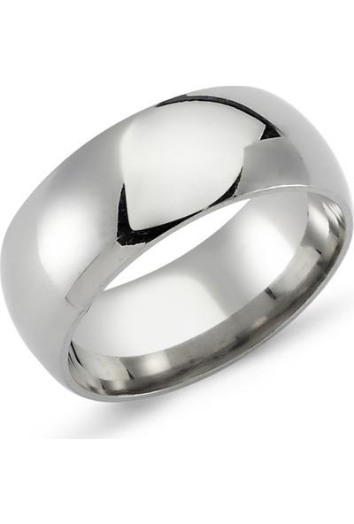 Başar Gümüş Çelik Alyans Yüzük - 8 mm