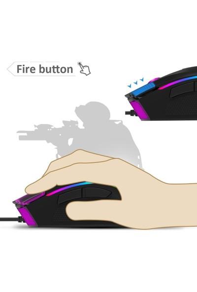 Delux M625 A3050 Işıklı 7 Düğmeli Kablolu Optik Mouse