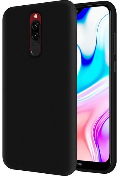 Kzy Xiaomi Redmi 8 İçi Kadife Soft Silikon Kılıf - Siyah