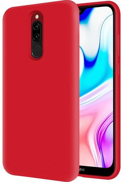 Kzy Xiaomi Redmi 8 İçi Kadife Soft Silikon Kılıf - Kırmızı