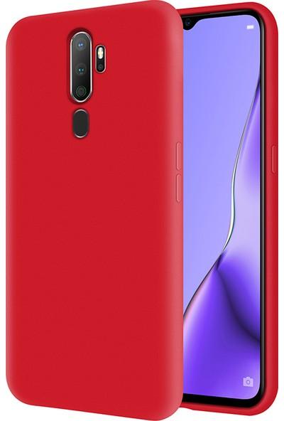 Kzy Oppo A9 2020 İçi Kadife Soft Silikon Kılıf - Kırmızı
