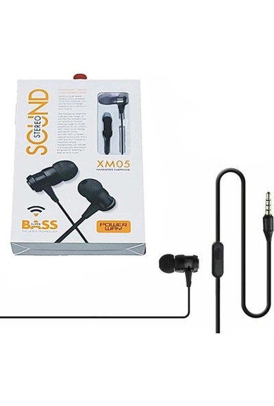 Powerway Xm-05 Kulak Içi Mikrofonlu Süper Bass Kulaklık Siyah
