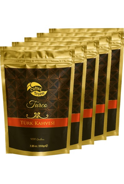 """""""Coffeetropic Turco Türk Kahvesi 5 x 200 gr """""""