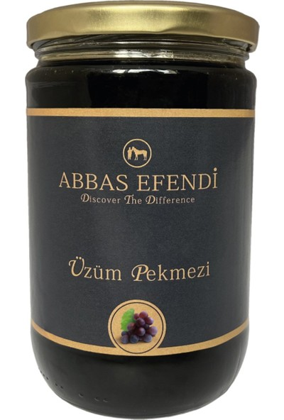 Abbas Efendi Saf Üzüm Pekmezi Cam Kavanoz 1250 gr