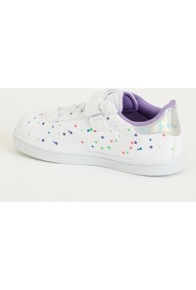 Defacto Kız Çocuk Yıldız Desenli Sneakers Ayakkabı