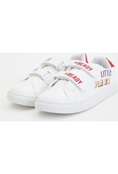Defacto Erkek Çocuk Baskılı Cırtcırtlı Sneaker Ayakkabı