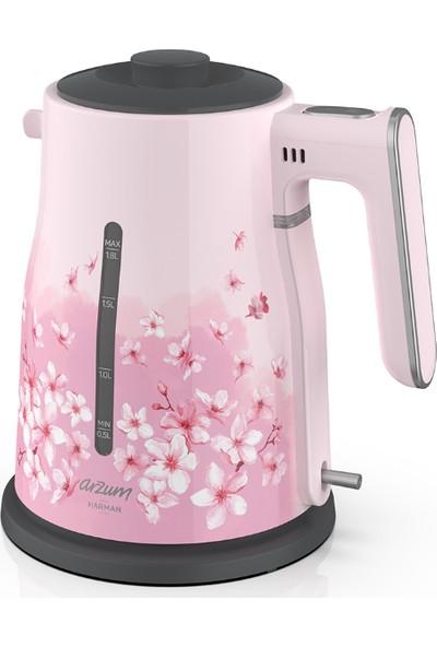 Arzum AR3060-DS Harman Çay Makinesi - Kiraz Çiçeği