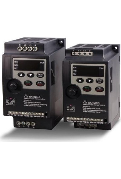 Yılmaz 0.75 Kw 1-Faz 230V Monofaze NL1000-00R7G2-Y YB1000 - Temel Seri Ac Hız Kontrol Motor Sürücüsü Driver